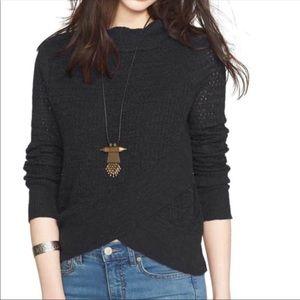Free People Sweater-BOHO wrap mock neck- Size M